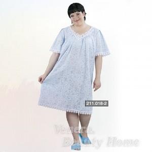 Сорочка женская НочнаясиняяДомашняя одежда<br><br><br>Размер: 58