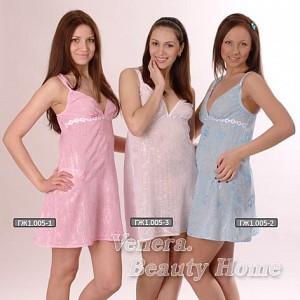 Сорочка женская Конфетка на тонких бретеляхСорочки<br><br><br>Размер: 44