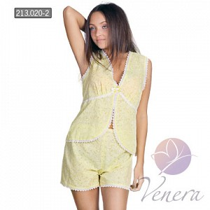 Пижама женская Катрин (Желтый)Пижамы<br><br><br>Размер: 44