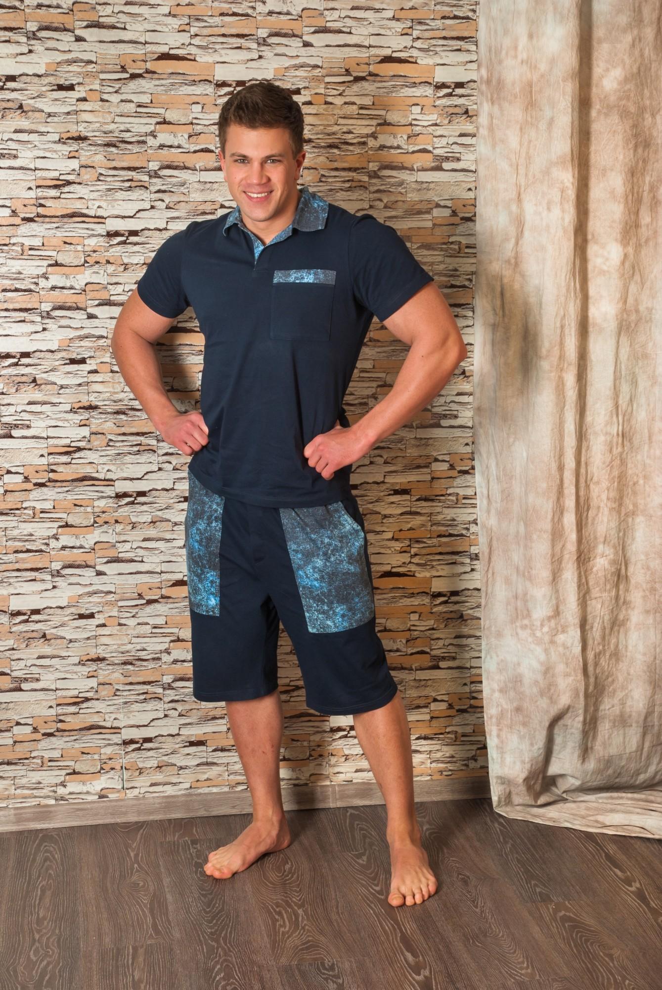 Костюм мужской Мартин-2 футболка + бриджиКоллекция ВЕСНА-ЛЕТО<br><br><br>Размер: 52