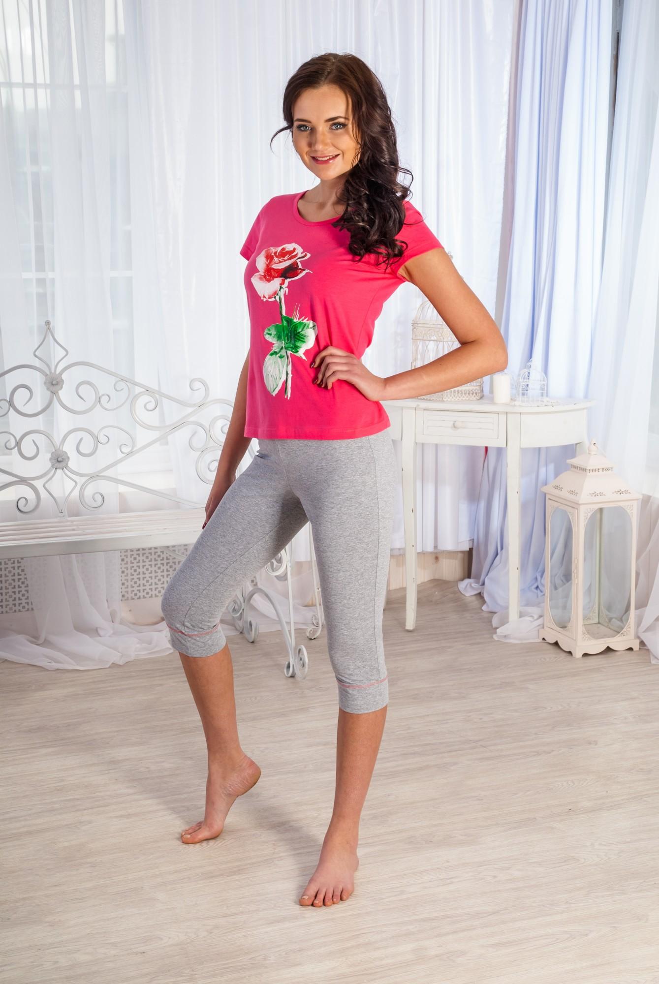 Костюм женский Миледи футболка и бриджиКоллекция ВЕСНА-ЛЕТО<br><br><br>Размер: 54
