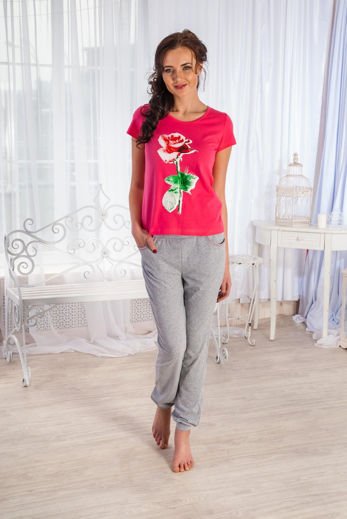 Костюм женский Миледи футболка и брюки с карманамиКоллекция ВЕСНА-ЛЕТО<br><br><br>Размер: 50
