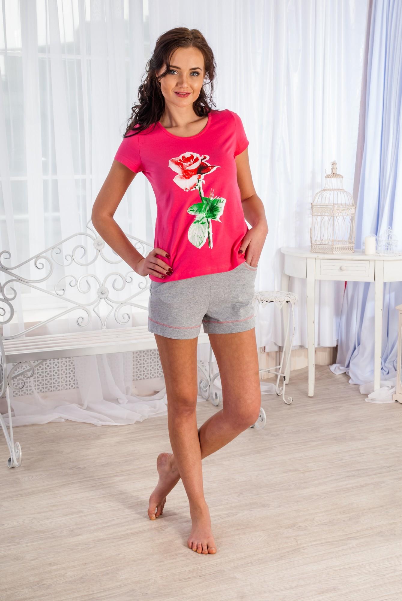 Костюм женский Миледи футболка и шортыКоллекция ВЕСНА-ЛЕТО<br><br><br>Размер: 50
