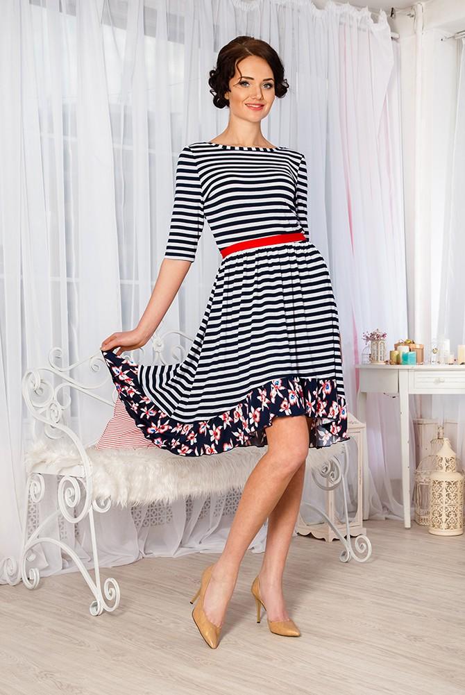 Платье женское Вероника из вискозы без поясаПлатья<br><br><br>Размер: 48