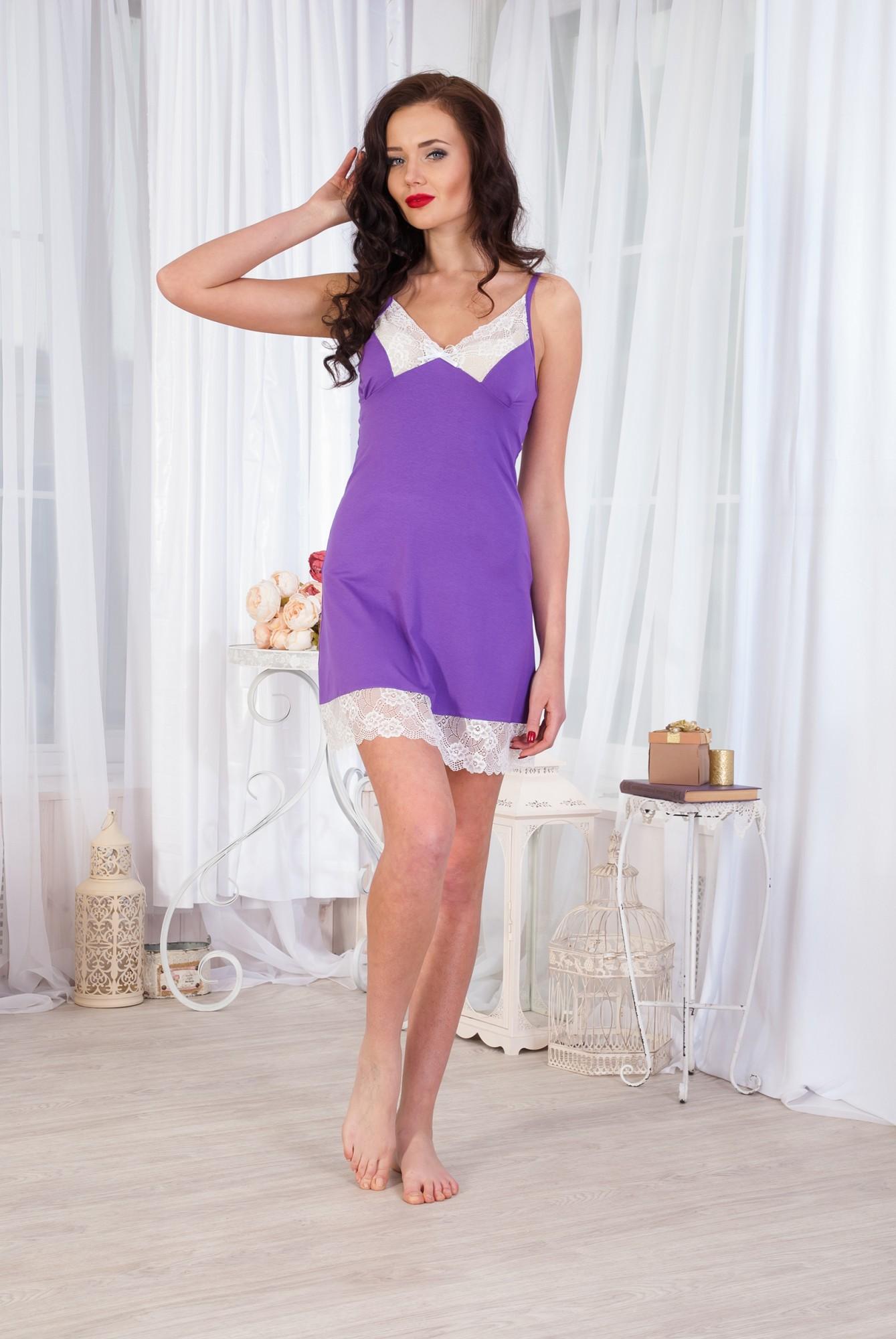 Сорочка женская Валерия вискозаДомашняя одежда<br><br><br>Размер: Синий