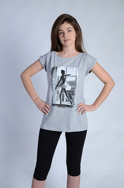 Костюм женский Аллегро туника и бриджиСпортивные костюмы<br><br><br>Размер: 44