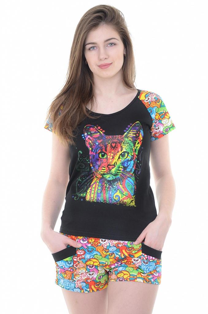 Костюм женский Багира футболка и шортыКоллекция ВЕСНА-ЛЕТО<br><br><br>Размер: 52