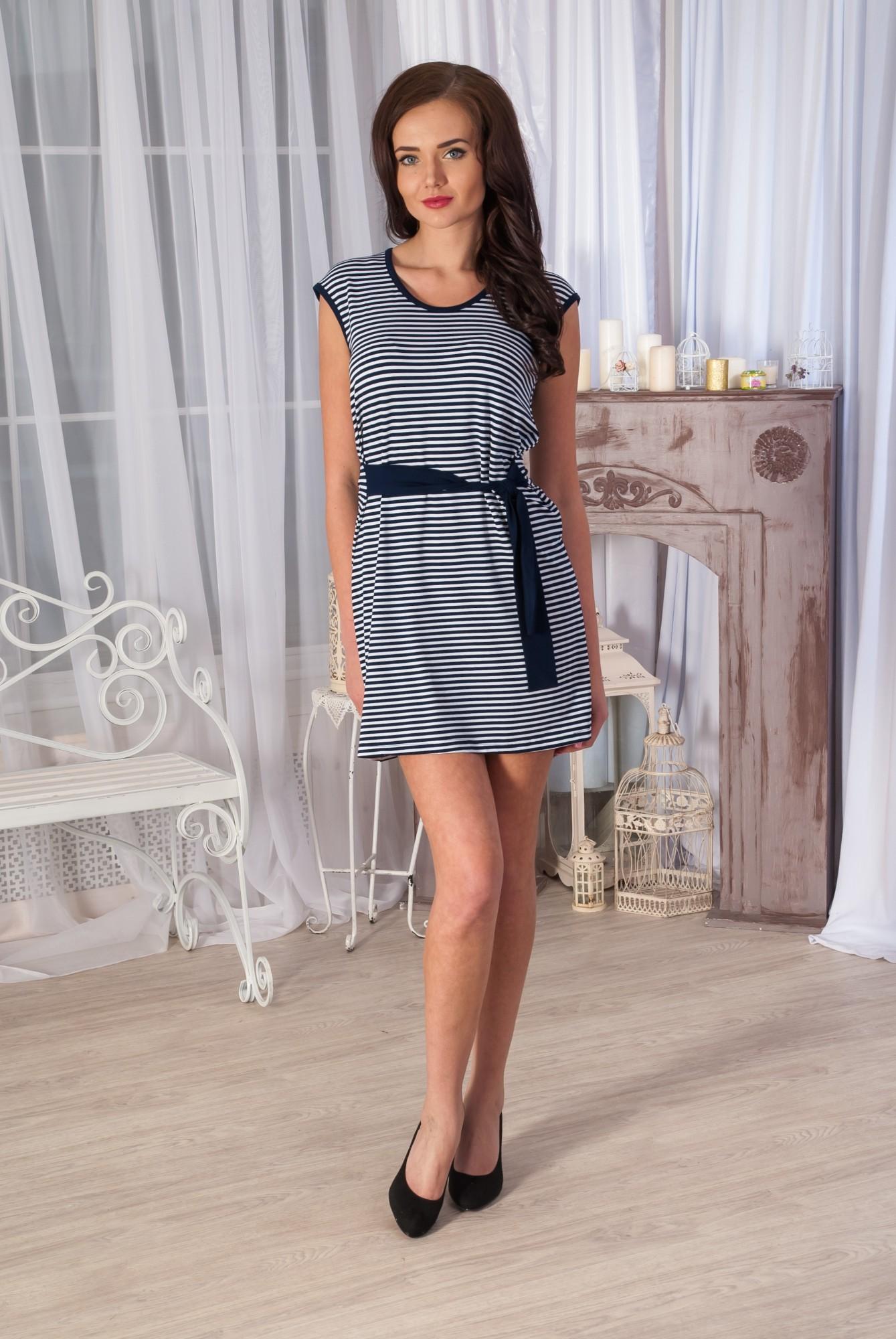 Платье женское ПолоскаПлатья и сарафаны<br><br><br>Размер: 50