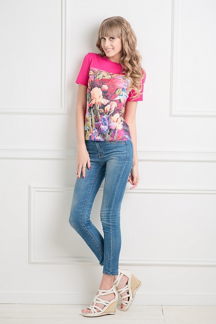Блуза женская ЦветыТуники<br><br><br>Размер: 44