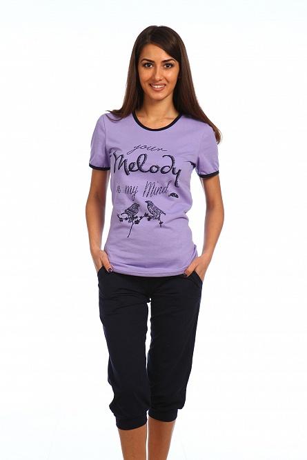 Комплект женский Мелодия футболка и бриджиСпортивные костюмы<br><br><br>Размер: 52