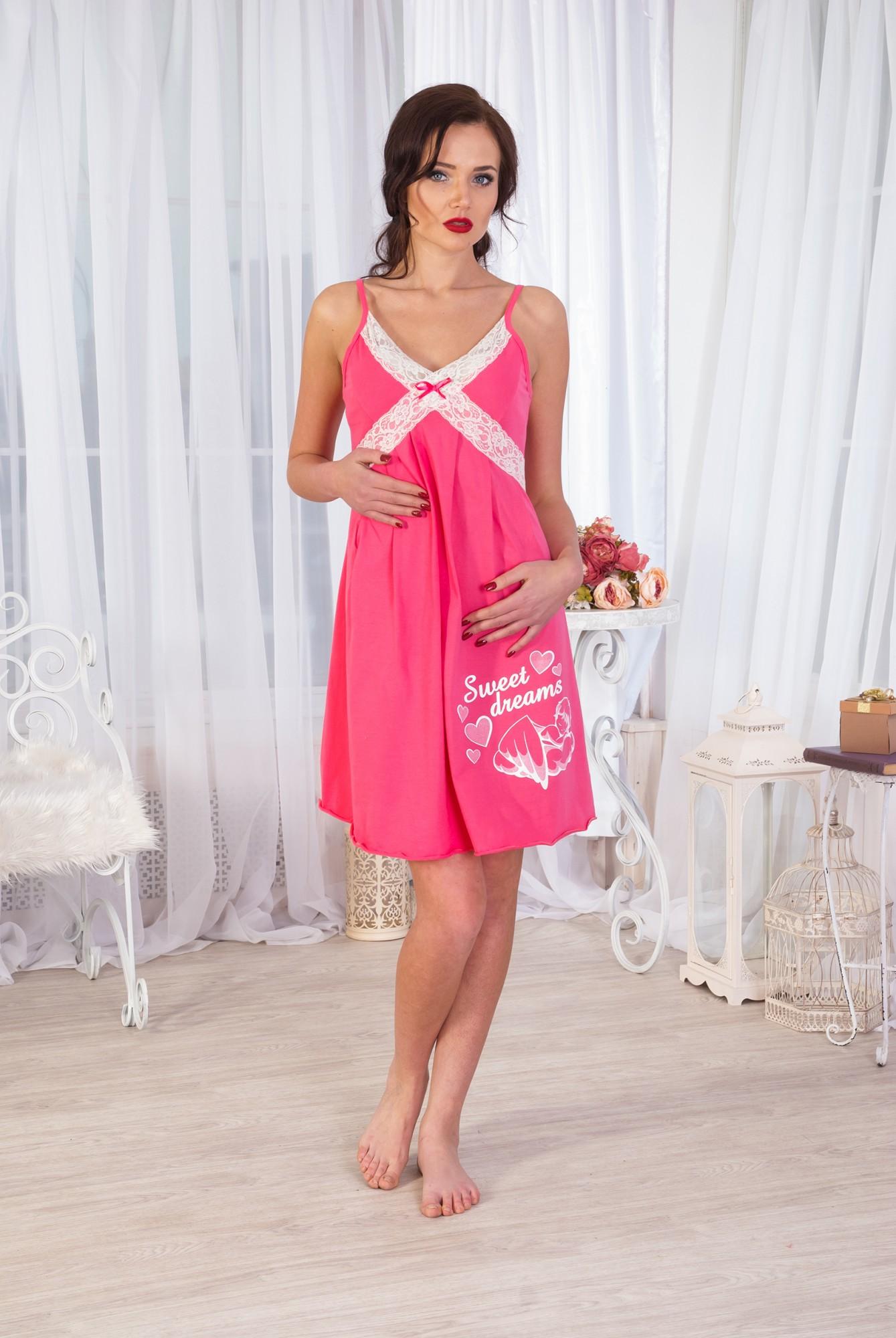 Сорочка ночная женская АнгелинаСорочки<br><br><br>Размер: Розовый