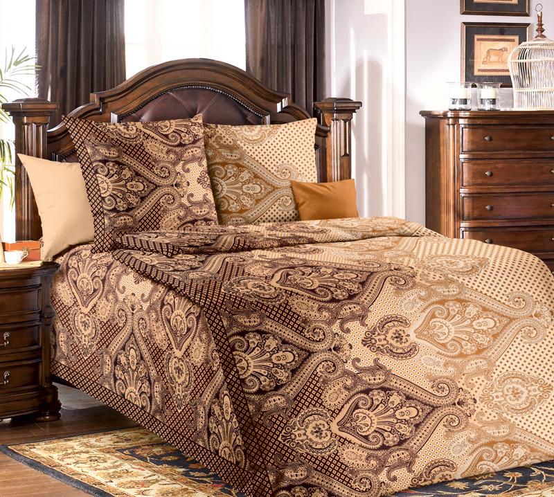 Комплект постельного белья Агра 1 из бязиБязь<br><br><br>Размер: 1.5сп (2 нав.70х70)