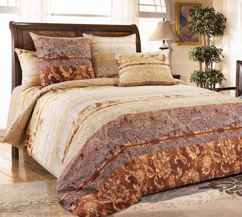 Комплект постельного белья Амбассадор 1Перкаль<br><br><br>Размер: Евростандарт (2 нав. 70х70)