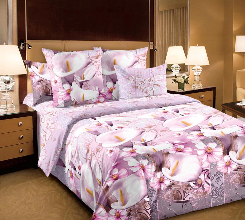 Комплект постельного белья Амалия 2Бязь<br><br><br>Размер: 2сп с европростыней (2 нав.70х70)