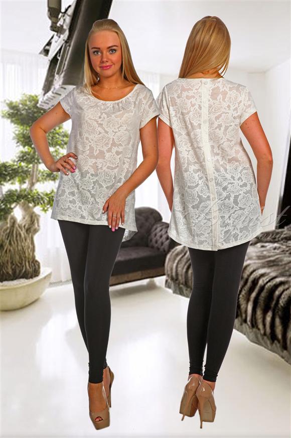 Блузка женская НежностьТуники, рубашки и блузы<br><br><br>Размер: 48