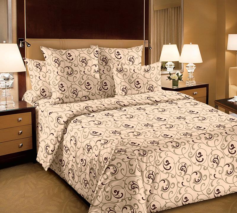 Комплект постельного белья Вензель 2Перкаль<br><br><br>Размер: Семейный (2 нав. 70х70)