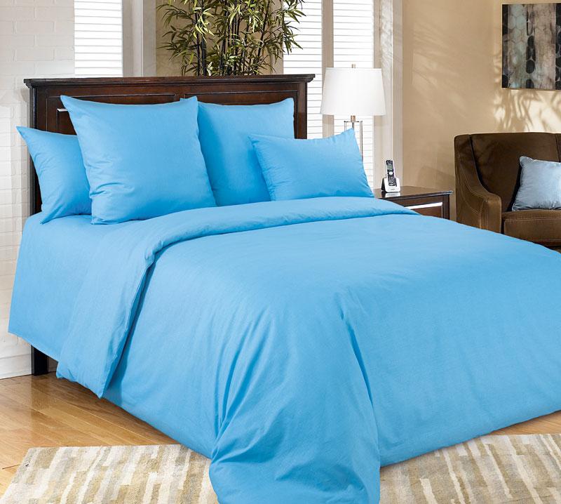 Комплект постельного белья ГолубойПеркаль<br><br><br>Размер: 1,5сп. (2 нав.70х70)