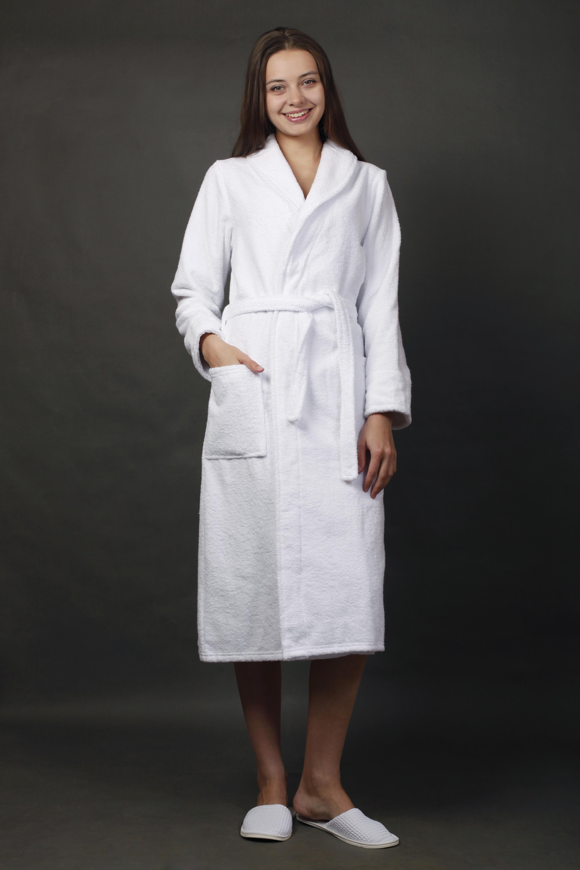 Халат женский для ванной Элегия белыйПодарки к 8 марта<br><br><br>Размер: 52