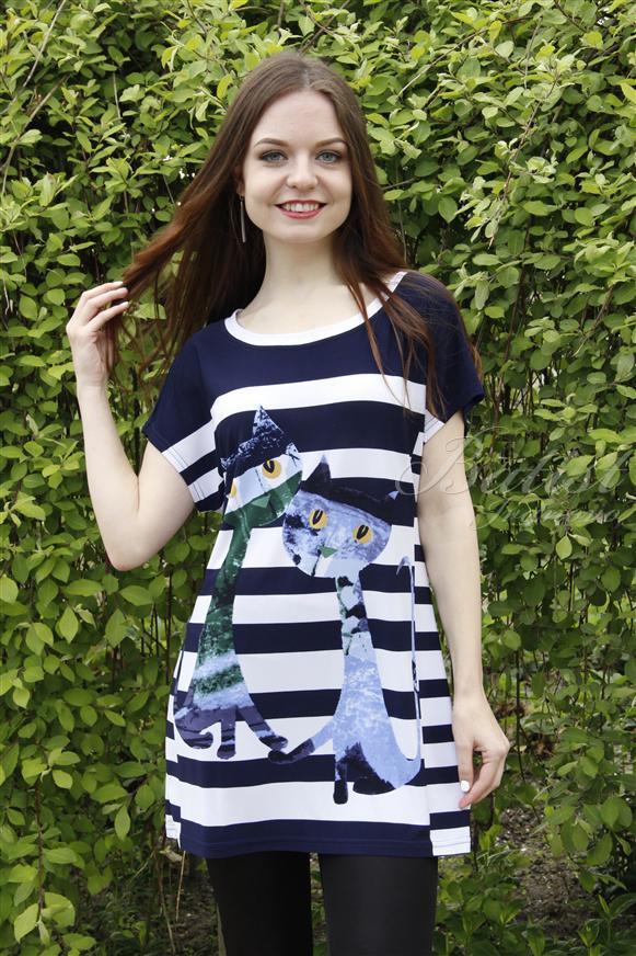 Блузка женская КотыБлузы<br><br><br>Размер: 44