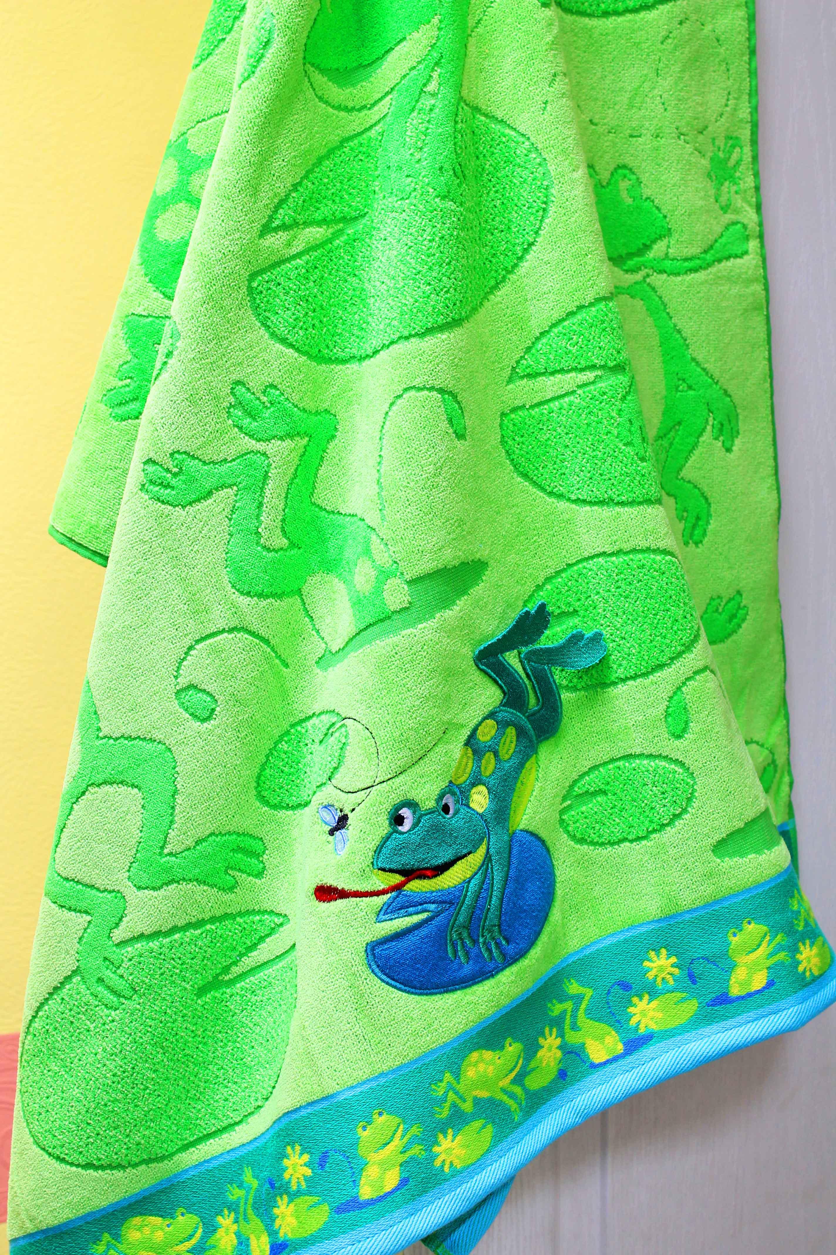 Полотенце ЛягушкаДетские изделия<br><br><br>Размер: 80х160