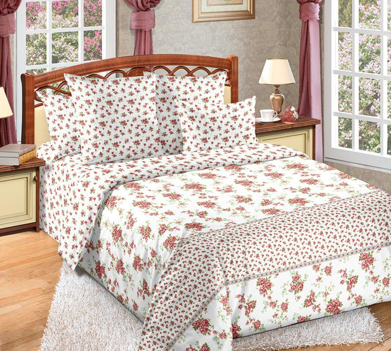 Комплект постельного белья Мирабель 4Перкаль<br><br><br>Размер: Евростандарт (2 нав. 70х70)