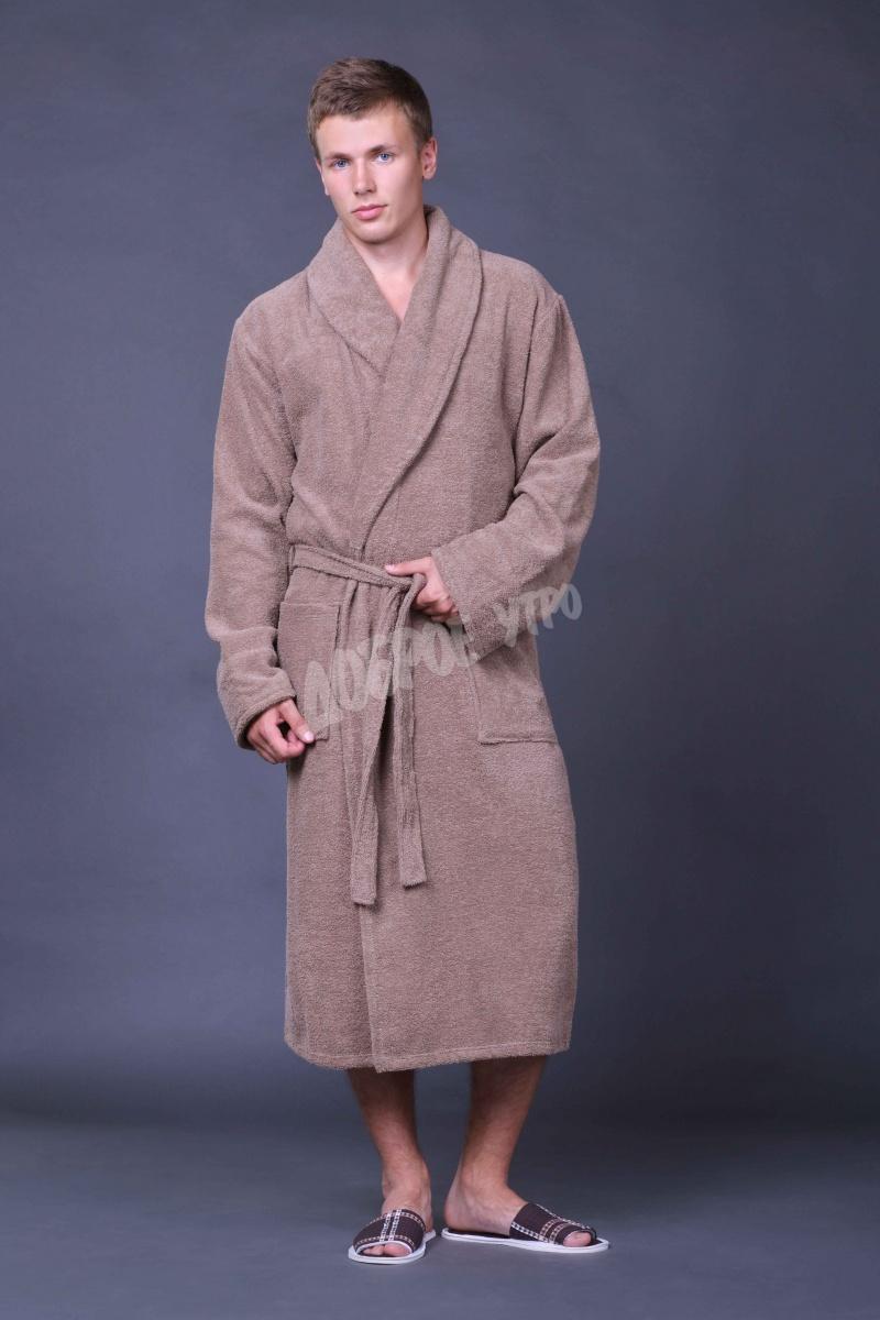 Халат мужской для ванной Мужская элегияПодарки к 23 февраля<br><br><br>Размер: Серый