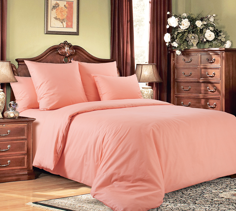 Комплект постельного белья ПерсикПеркаль<br><br><br>Размер: Семейный (2 нав. 70х70)