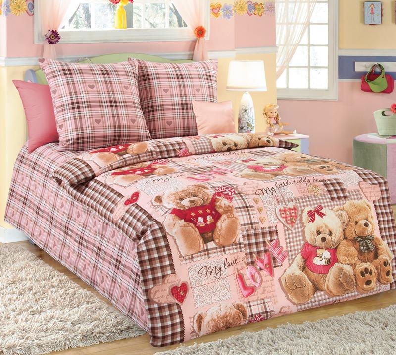 Комплект постельного белья Плюшевые мишки 1Детское постельное белье<br><br><br>Размер: 1.5сп (2 нав.70х70)