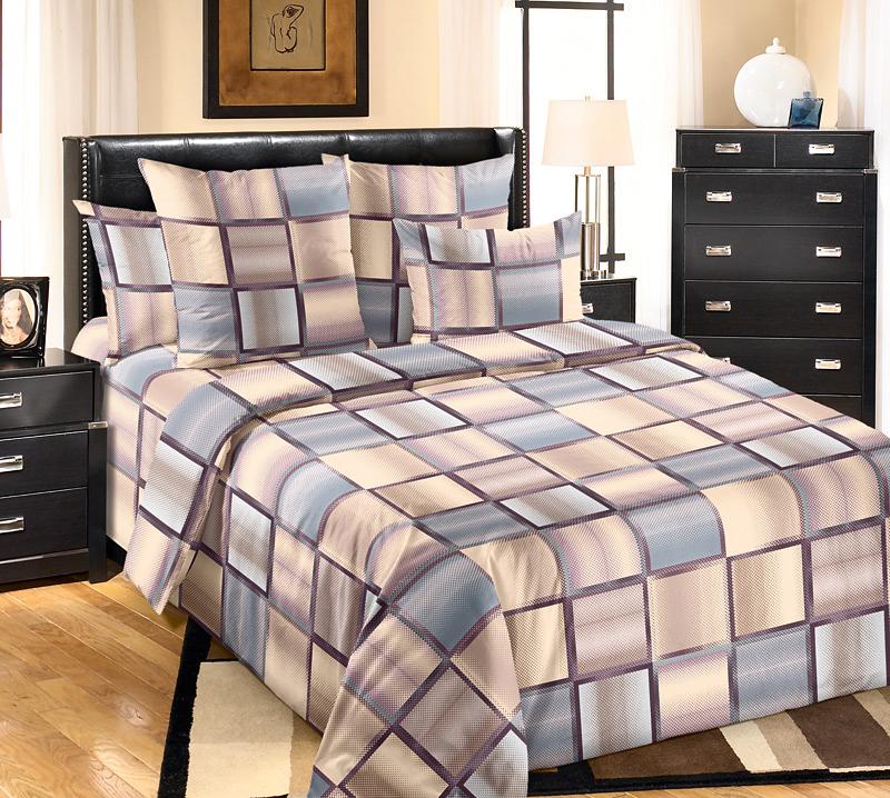 Комплект постельного белья Техно 3Перкаль<br><br><br>Размер: 2сп. с европростыней (2 нав. 70х70)