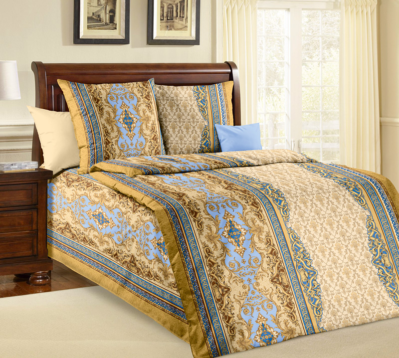 Комплект постельного белья Фаберже 2 из бязиБязь<br><br><br>Размер: 1.5сп (2 нав.70х70)