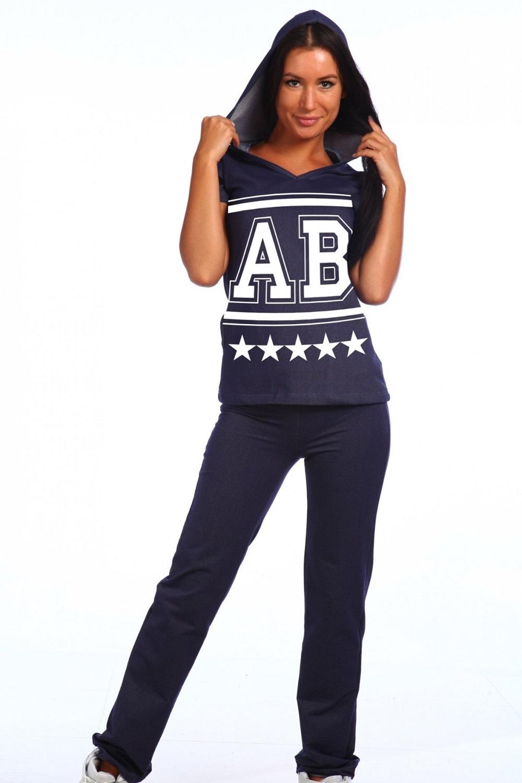 Костюм женский Форсаж блуза с капюшоном и брюкиКостюмы<br><br><br>Размер: 42