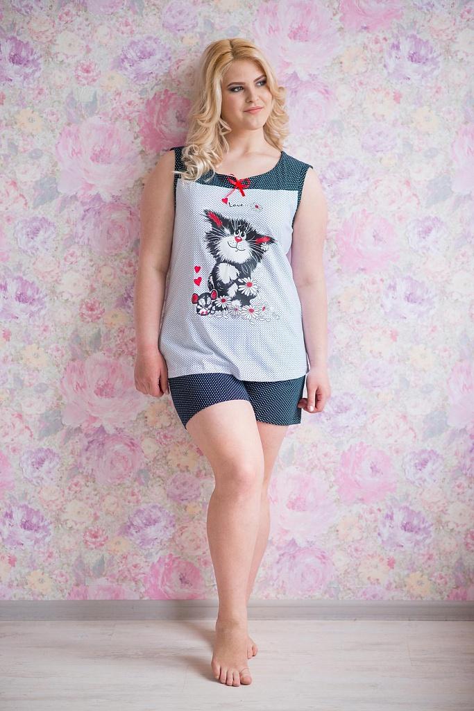 Пижама женская Лето майка и шортыПижамы<br><br><br>Размер: 56