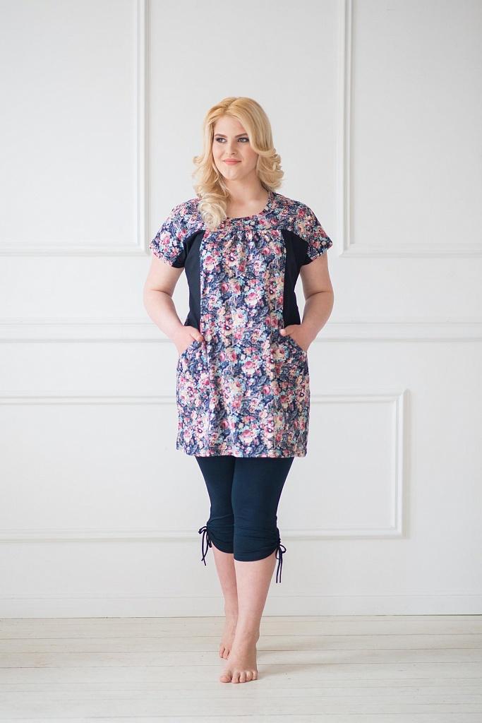 Туника женская ЛетоТуники, рубашки и блузы<br><br><br>Размер: 48