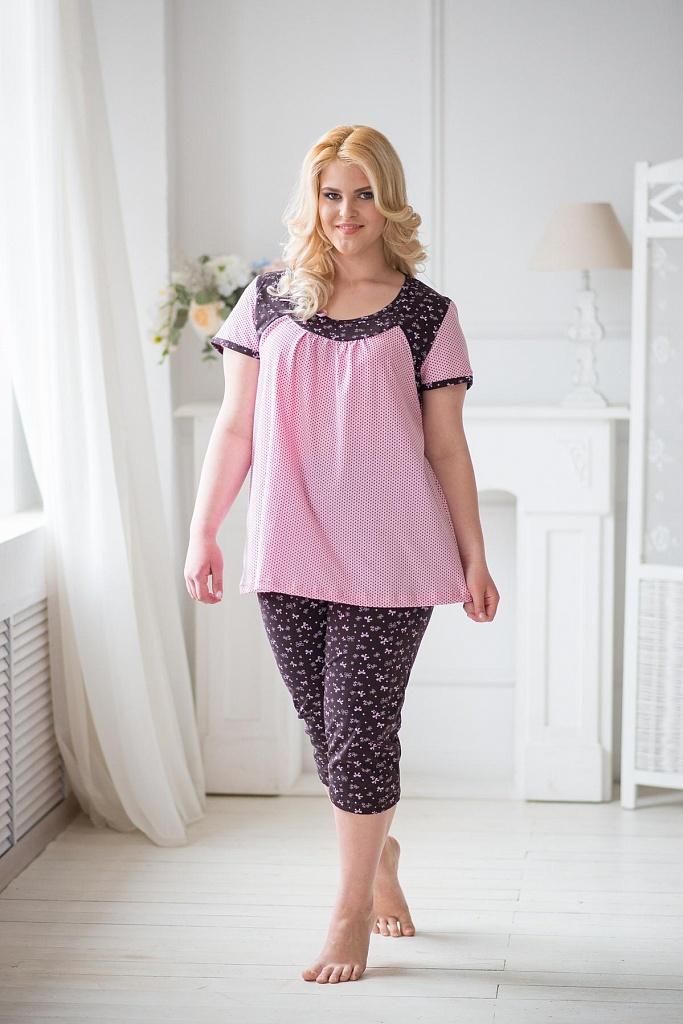Пижама женская БантикДомашняя одежда<br><br><br>Размер: 48
