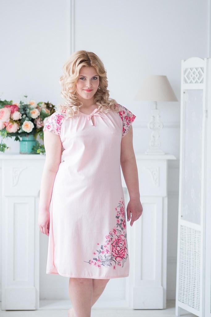Сорочка женская Розовый кустСорочки<br><br><br>Размер: 52