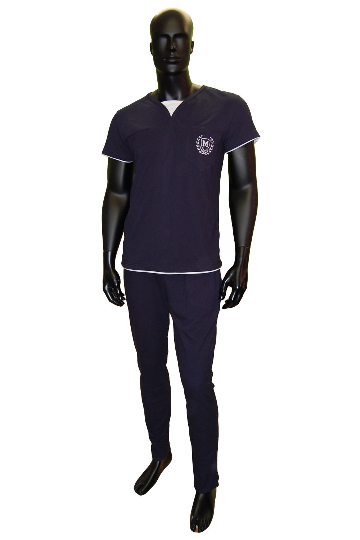 Костюм мужской Пике футболка и брюкиКостюмы<br><br><br>Размер: 46