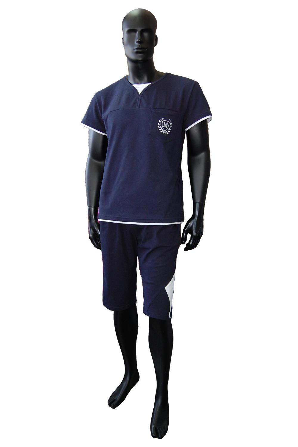 Костюм мужской Пике футболка и шортыКостюмы<br><br><br>Размер: 48