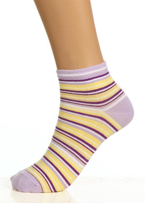 Носки женские Сиреневая полоскаНоски<br><br><br>Размер: Желто-сиреневые
