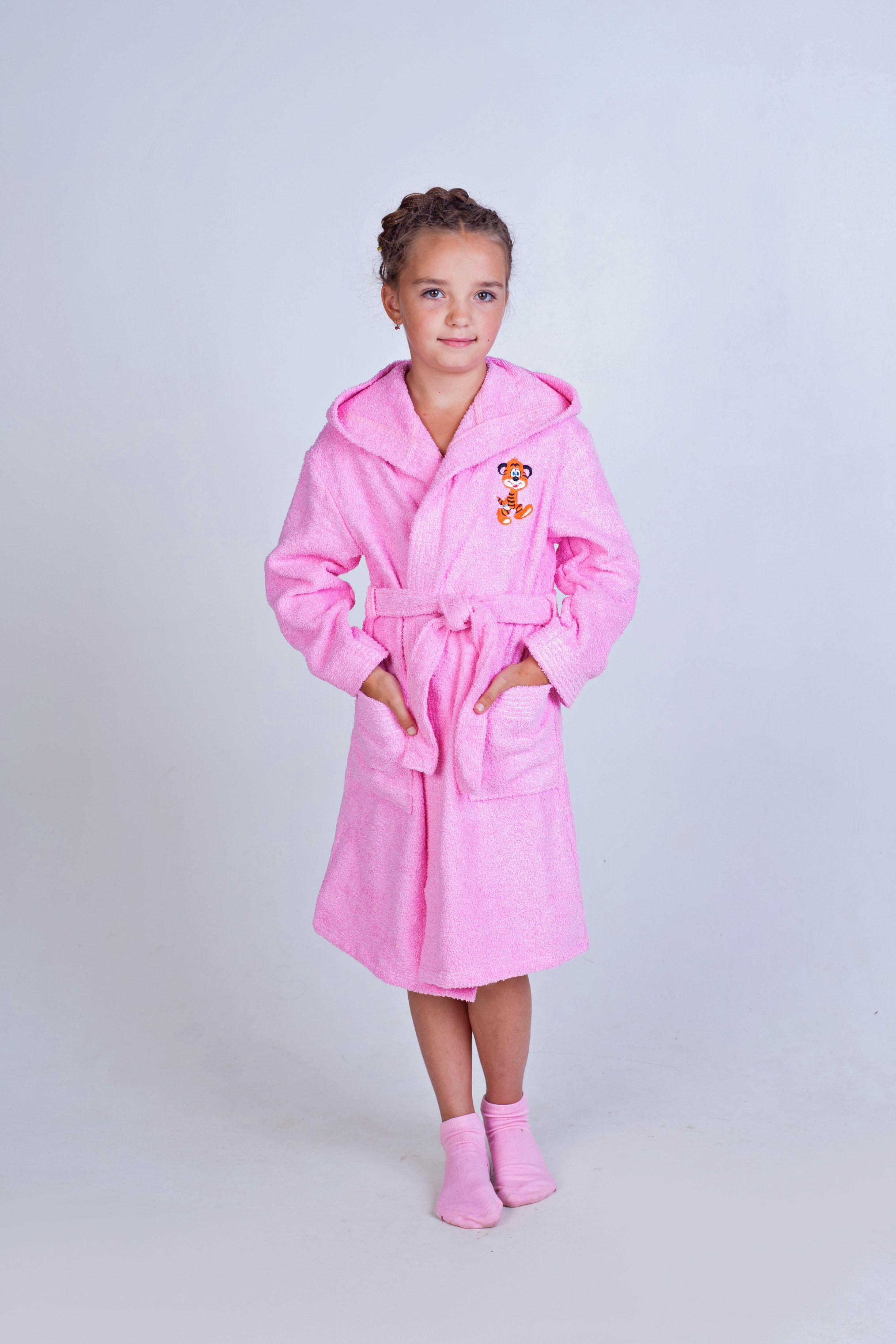 Халат детский Махровый с вышивкой и с капюшономХалаты детские для ванной<br><br><br>Размер: 34