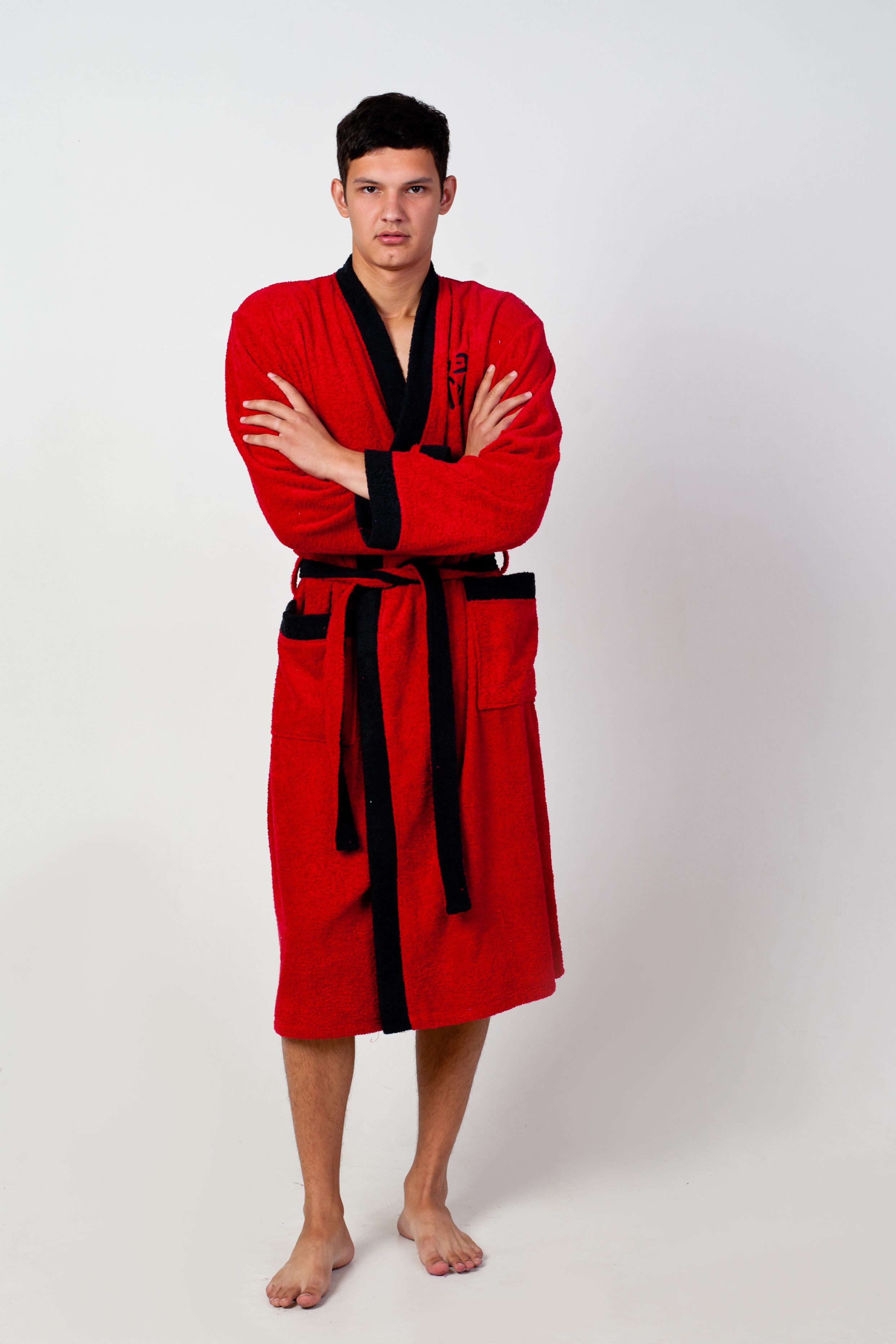 Халат мужской для ванной СамурайПодарки к 23 февраля<br><br><br>Размер: Синий