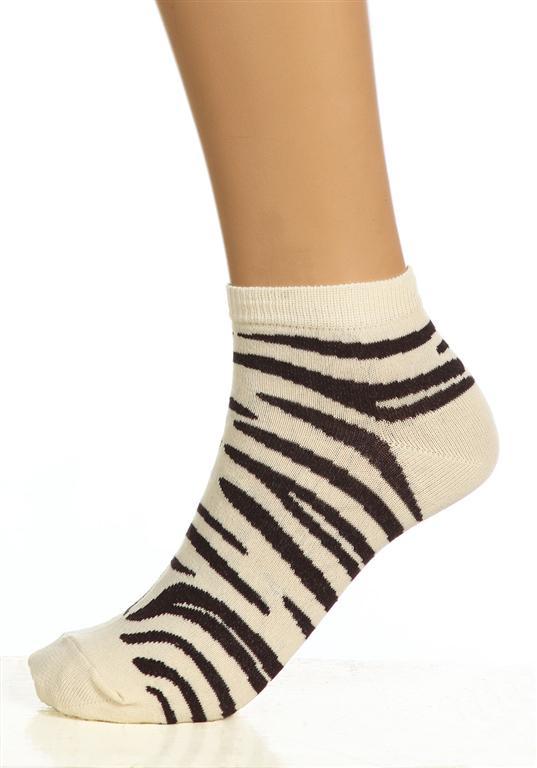 Носки женские Зебра укороченныеНоски<br><br><br>Размер: 25