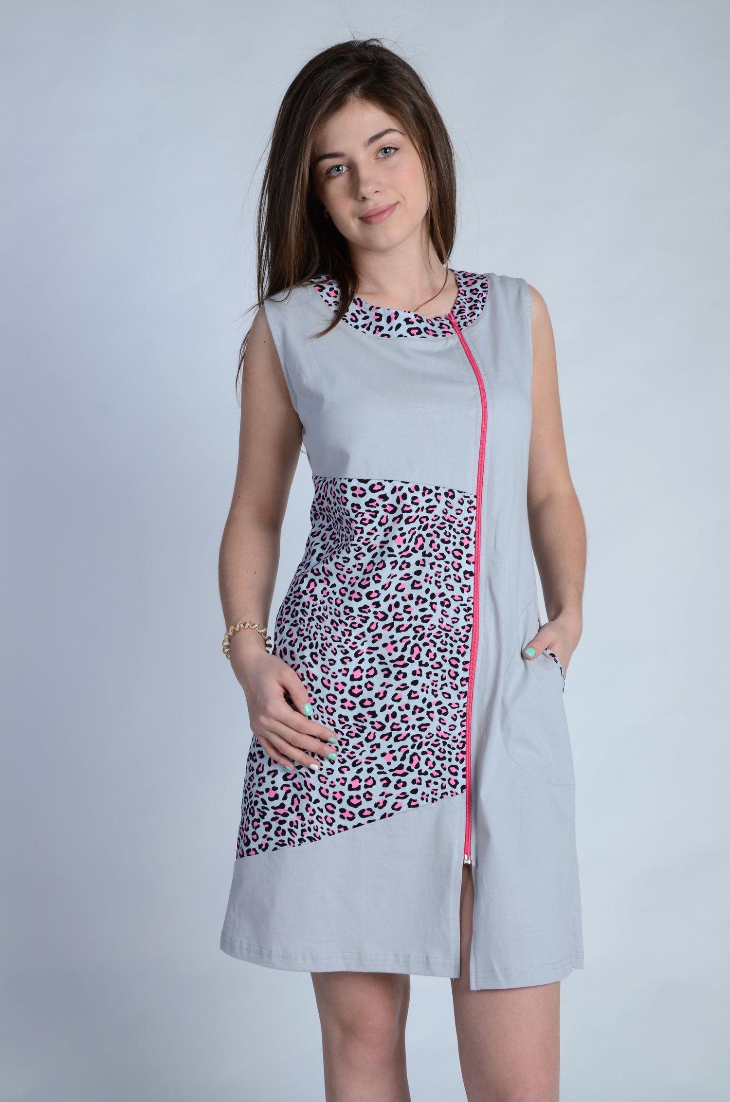 Халат женский Сафари на молнииДомашняя одежда<br><br><br>Размер: 58