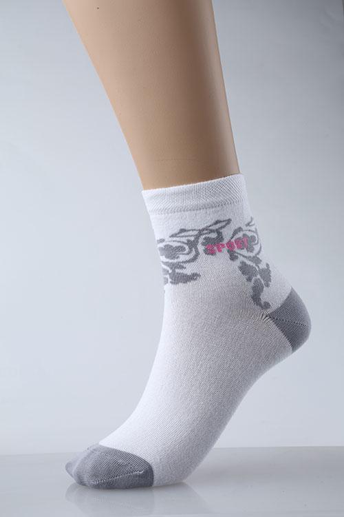 Носки женские Спорт-орнаментНоски<br><br><br>Размер: Серый