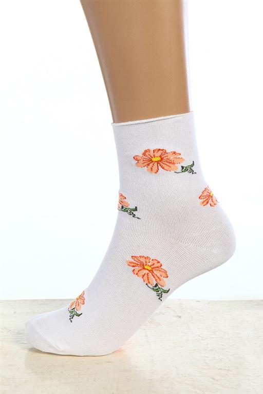 Носки женские РомашкаНоски<br><br><br>Размер: Белый