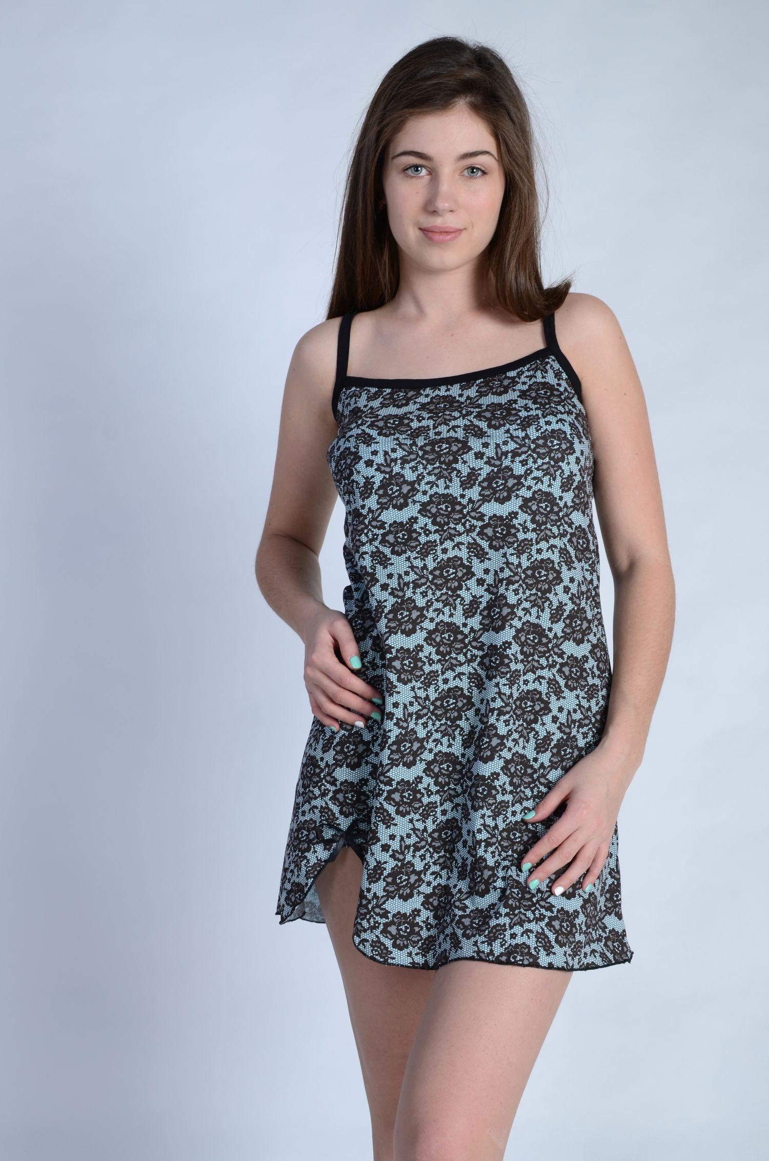 Сорочка женская КатюшаСорочки<br><br><br>Размер: Голубой