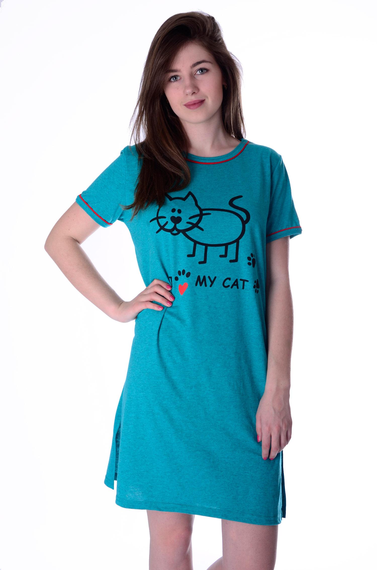 Сорочка женская МуркаСорочки<br><br><br>Размер: Голубой