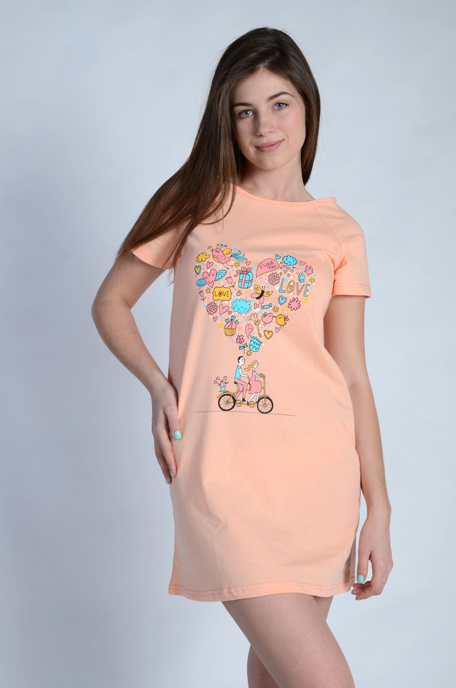 Сорочка женская ВиолеттаСорочки<br><br><br>Размер: Голубой