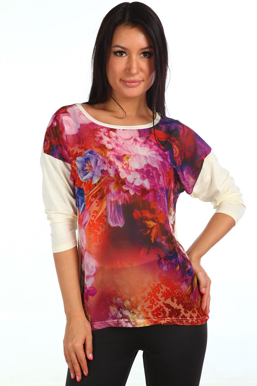 Блузка женская Флавия с рукавом 3/4Блузы<br><br><br>Размер: 52
