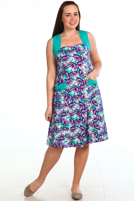 Сарафан женский Цветочная фантазияПлатья и сарафаны<br><br><br>Размер: 50