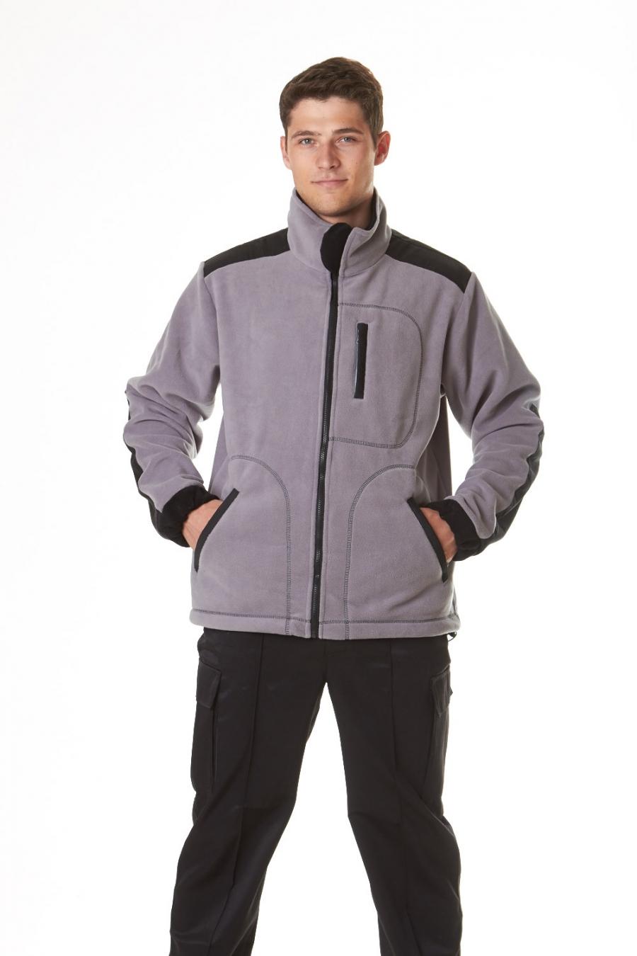 Куртка мужская для охоты и рыбалки ФлисоваяОдежда для охоты и рыбалки<br><br><br>Размер: 58